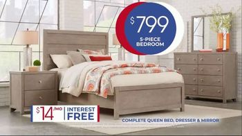Rooms to Go Anniversary Sale TV Spot, 'Five-Piece Bedroom Set: $799' Song by Junior Senior - Thumbnail 6
