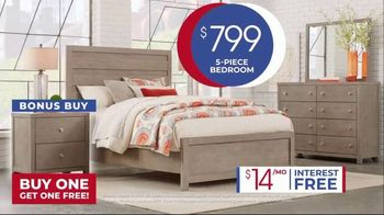 Rooms to Go Anniversary Sale TV Spot, 'Five-Piece Bedroom Set: $799' Song by Junior Senior - Thumbnail 7