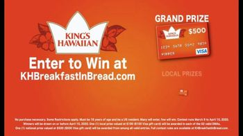 King's Hawaiian Breakfast in Bread Contest TV Spot, '$500 Grand Prize' - Thumbnail 3