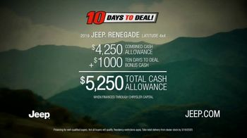 Jeep 10 Days to Deal! TV Spot, 'Seize the Day' Song by Old Dominion [T2] - Thumbnail 7