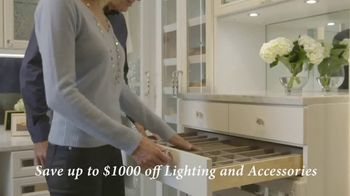 California Closets Lighting & Accessories Sales Event TV Spot, 'Save up to $1,000' - Thumbnail 5