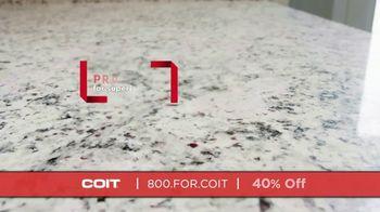 COIT TV Spot, 'Natural Stone Surfaces: 40 Percent Off' - Thumbnail 6
