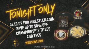 WWE Shop TV Spot, '2020 WrestleMania: 50 Percent Off Championship Titles and Tees' - Thumbnail 9