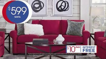 Rooms to Go Anniversary Sale TV Spot, 'Five Piece Living Room Set' Song by Junior Senior - Thumbnail 5