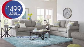 Rooms to Go Anniversary Sale TV Spot, 'Five Piece Living Room Set' Song by Junior Senior - Thumbnail 6