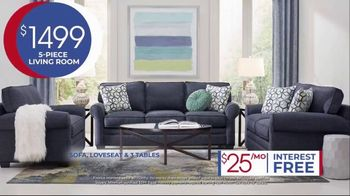 Rooms to Go Anniversary Sale TV Spot, 'Five Piece Living Room Set' Song by Junior Senior - Thumbnail 7