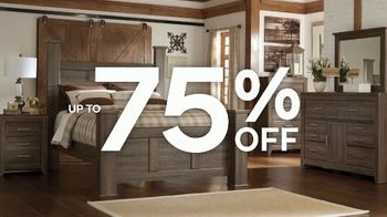 Ashley HomeStore Warehouse Blowout Sale TV Spot, 'Up to 75 Percent Off'