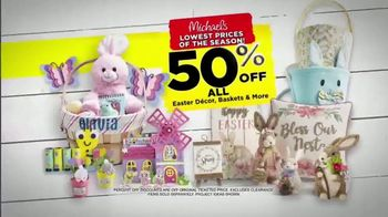 Michaels Lowest Prices of the Season Sale TV Spot, 'Easter Decor' - Thumbnail 4