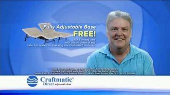 Craftmatic TV Spot, 'Fully Adjustable Base Free' - Thumbnail 1