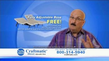 Craftmatic TV Spot, 'Fully Adjustable Base Free' - Thumbnail 10
