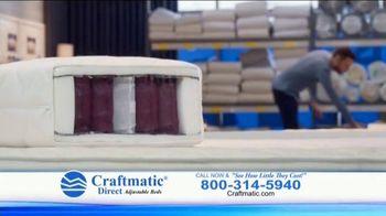 Craftmatic TV Spot, 'Fully Adjustable Base Free' - Thumbnail 2
