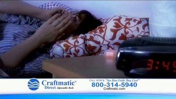 Craftmatic TV Spot, 'Fully Adjustable Base Free' - Thumbnail 4