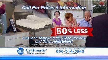 Craftmatic TV Spot, 'Fully Adjustable Base Free' - Thumbnail 5