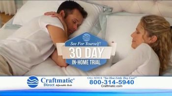 Craftmatic TV Spot, 'Fully Adjustable Base Free'