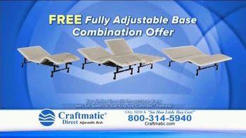 Craftmatic TV Spot, 'Fully Adjustable Base Free' - Thumbnail 9