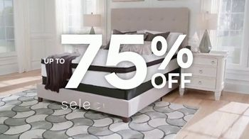 Ashley HomeStore Warehouse Mattress Blowout Sale TV Spot, 'Once in a Lifetime: Select Mattresses'