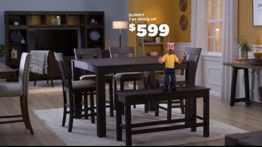 Bob's Discount Furniture TV Commercial, 'Summit Seven Piece Dining Set'