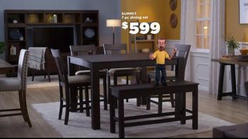 Bob's Discount Furniture TV Spot, 'Summit Seven Piece Dining Set'