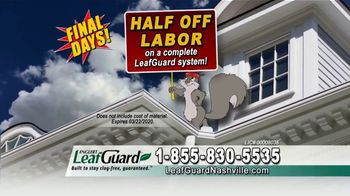 LeafGuard Winter Half Off Sale TV Spot, '32 Inches of Rainfall an Hour' - Thumbnail 5