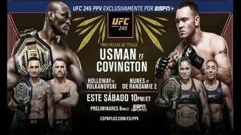 ESPN+ UFC 245 TV Spot, 'Tres peleas: Usman vs. Covington' canción de CRISPIN [Spanish] - 34 commercial airings