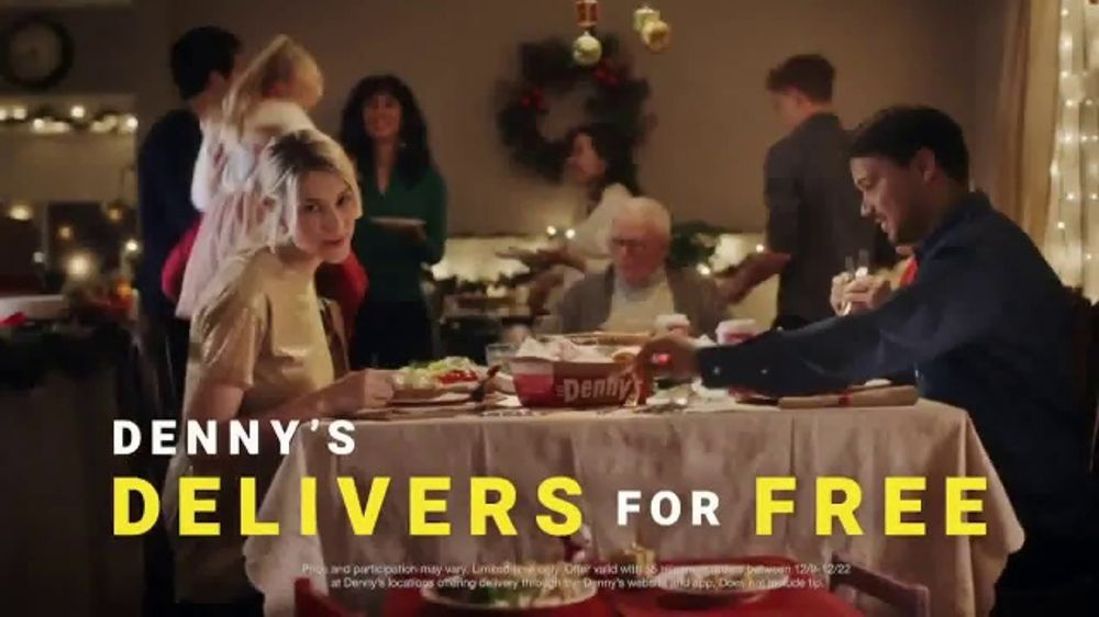 Denny's TV Commercial, 'Holidays: December Free Delivery'