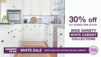 Cabinets To Go White Sale TV Spot, '30 Percent Off White Cabinet Collections' - Thumbnail 3