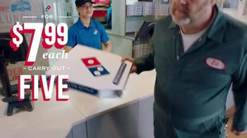 Domino's TV Spot, 'Five Crust Options for $7.99: Elevator' - Thumbnail 3