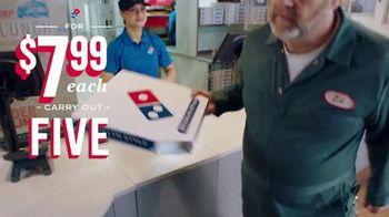 Domino's TV Spot, 'Five Crust Options for $7.99: Elevator'