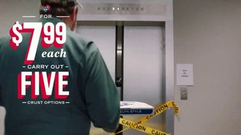 Domino's TV Spot, 'Five Crust Options for $7.99: Elevator' - Thumbnail 4