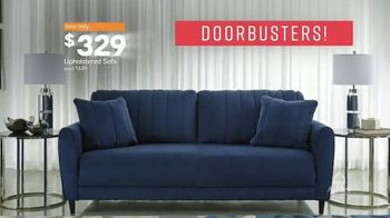 Ashley HomeStore One Day Sale TV Spot, 'Doorbusters: Upholstered Sofas' Song by Midnight Riot - Thumbnail 5