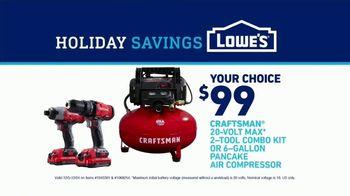 Lowe's Holiday Savings TV Spot, 'Doing the Holidays Right: Craftsman Power Tool Kit' - Thumbnail 9