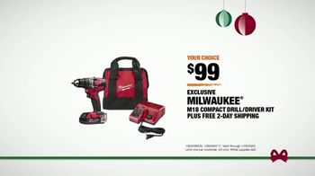 The Home Depot TV Spot, 'Holidays: Milwaukee and Dewalt Drill Kit' - Thumbnail 8