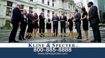 Kline & Specter TV Spot, 'Five Doctor Lawyers: Settlements' - Thumbnail 3