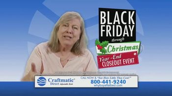 Craftmatic Black Friday Through Christmas Year-End Closeout Event TV Spot, 'Crazy Lady' - Thumbnail 4