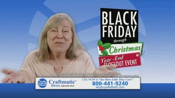 Craftmatic Black Friday Through Christmas Year-End Closeout Event TV Spot, 'Crazy Lady' - Thumbnail 9