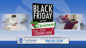 Craftmatic Black Friday Through Christmas Year-End Closeout Event TV Spot, 'Crazy Lady'