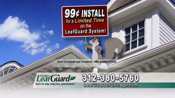 LeafGuard of Chicago 99 Cent Install Sale TV Spot, 'Colors'