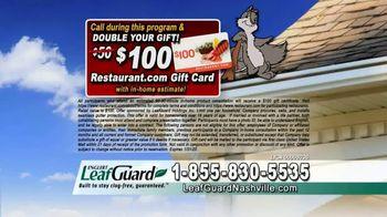 LeafGuard of Nashville 99 Cent Install Sale TV Spot, 'Big Mouth: $200 VISA Gift Card' - Thumbnail 8