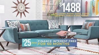 Rooms to Go Holiday Sale TV Spot, '4-Piece Living Room Set'