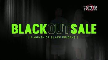 Tennis Express Blackout Sale TV Spot, 'Shoes, Apparel and Free Stringing'