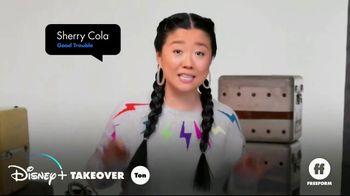 Disney+ TV Spot, 'Freeform: Disney+ Takeover' Featuring Jordan Buhat, Sherry Cola & Kimiko Glenn - Thumbnail 1