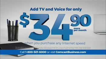 Comcast Business TV Spot, 'Time is Money: Add TV & Voice for $34.90' - Thumbnail 4