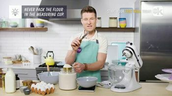 Food Network Kitchen App TV Spot, 'Dan Shows How to Accurately Measure Flour'