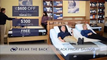 Relax the Back Black Friday Savings TV Spot, \'Celebrate Early\'