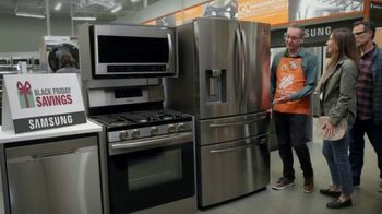 The Home Depot Black Friday Savings TV Spot, 'Right Away: GE Stainless Steel Kitchen Package'