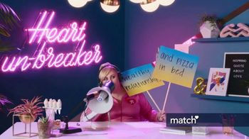 Match.com TV Spot, 'Pizza in Bed' Featuring Rebel Wilson - 1102 commercial airings