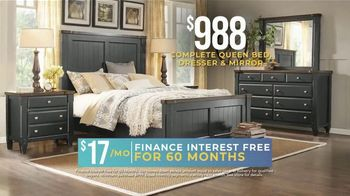 Rooms to Go Holiday Sale TV Spot, 'Bedroom Set: Three Finishes' - Thumbnail 3