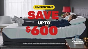 Mattress Firm Black Friday Sale TV Spot, 'Tempur-Pedic Mattresses: Save Up to $600 + Bonus Cash'