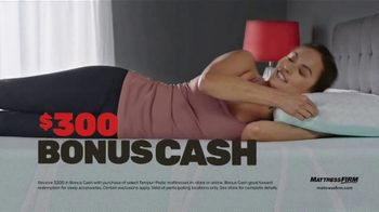 Mattress Firm Black Friday Sale TV Spot, 'Tempur-Pedic Mattresses: Save Up to $600 + Bonus Cash' - Thumbnail 5
