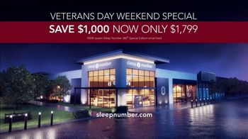 Sleep Number Veterans Day Sale TV Spot, 'Automatically Adjusts: Save $1000 + No Interest' - Thumbnail 10